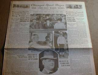 1931 CHICAGO newspaper Gangster AL CAPONE GUILTY of FEDERAL INCOME TAX
