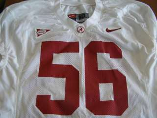 Alabama Crimson Tide Game Used Football Jersey #56