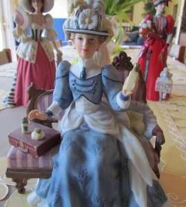 LOT OF MRS ALBEE FIGURINES ~ AVON PRESIDENTS CLUB AWARDS