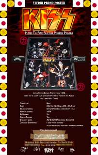 KISS VICTOR JAPAN PROMO POSTER BIKE (CHOPPER) 1976