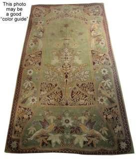 HUGE  Art Nouveau RUG Important Mohair Textile Panel Birds Passion