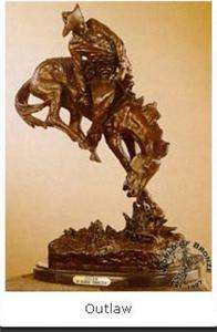 OUTLAW by Frederic Remington Bronze Handcast Statue Sculpture w