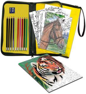 Colour Pencil By Numbers Big Kids Choice Easy To Do Keep N Carry Set