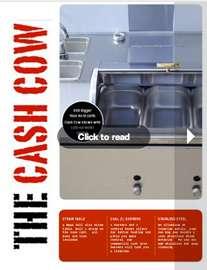 Cow Hotdog Vending Food Concession Cart Vendor Stand & Trailer