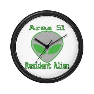 Area 51 Resident Alien Funny Wall Clock by CafePress: Home