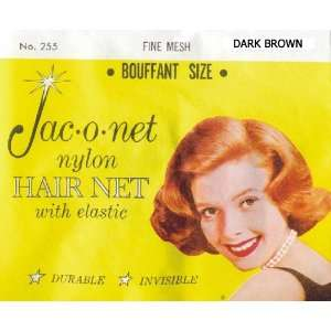 Jac o net Nylon Hair Net Bouffant With Elastic * Dark