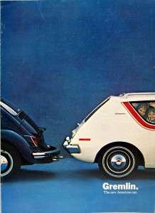 AMC AMERICAN MOTORS GREMLIN AUTOMOBILE ADVERTISING BROCHURE GUIDE 1970
