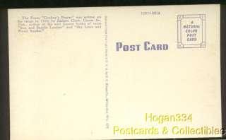 Cowboys Prayer Poem By Badger Clark Custer SD Postcard