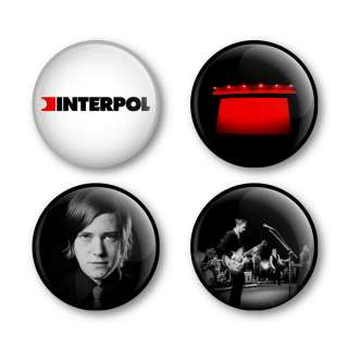 Interpol Badges Buttons Pins Tickets Albums Shirts