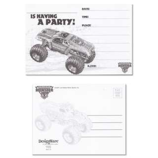 Monster Truck Jam Birthday Invitations & Thank You NEW
