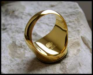 AJS © KNIGHTS TEMPLAR GOLD RING SURGICAL STEEL   D65G