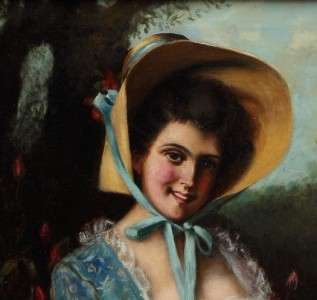 Original Listed Antique American Oil Painting Edwin Blashfield costume