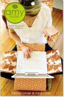 Amy Butler Laptop Cover iPod Case Sewing Pattern NEW