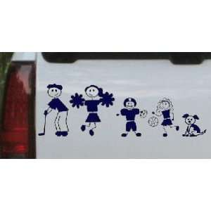 Golfing Dad Stick Family Stick Family Car Window Wall Laptop Decal