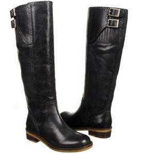 Lucky Brand Andria womens Riding 17 Tall Black genuine Leather Boots