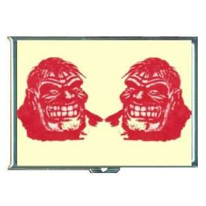 Angry Red Face Man Cartoon Fun ID Holder, Cigarette Case