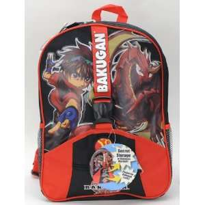 Japanese Favorite Cartoon Bakugan Large Backpack and One Cars Travel