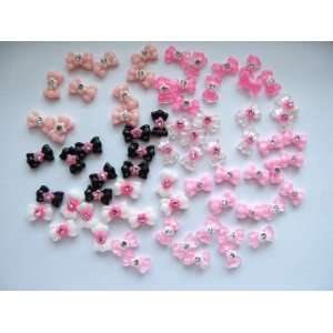 Nail Art 3d 70 Pieces Mix Bow Rhinestone for Nails, Cellphones 1.2cm