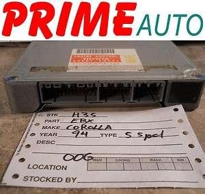 1994 94 Toyota Corolla Engine Computer ECM ECU OEM
