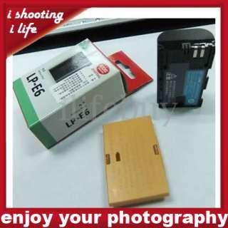 LP E6 1800mAh Battery Pack for Canon EOS 5D Mark II 7D
