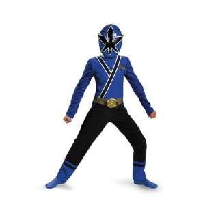 Samurai Blue Ranger Classic Child Costume Size 10 12 Toys & Games