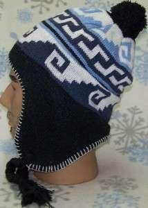 Jacquard Peruvian Ear Flap Hat,Ski,Earflap,Toboggan,Beanie,Cap,Sherpa