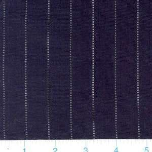 54 Wide Stretch Pinstripe Black & White Fabric By The