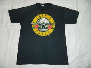 WAS HERE VTG T SHIRT TOUR 80S XL APPETITE FOR DESTRUCTION TEE