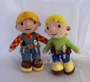 Bob The Builder & Wendy plush set 9 Applause and a Bob the Builder