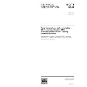 ISO/TS 149042002, Road transport and traffic telematics