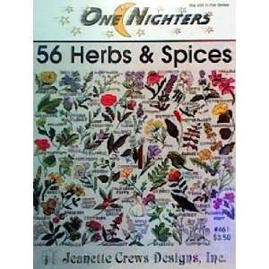 56 Herbs & Spices (One Nighters Cross Stitch): Jeanette Crews: Books