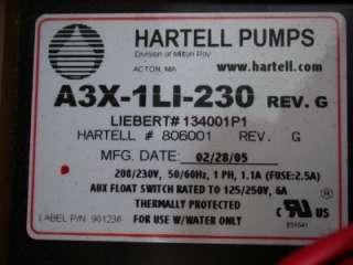 HARTELL A3X 1LI 230 HEAVY DUTY STEAM CONDENSATE PUMP