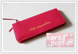 SNSD girls Generation KPOP CANDY COLOR PATENT LEATHER WALLET CARD CASE