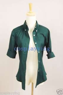 Replica Twilight New Moon Bella Green Button Down Shirt