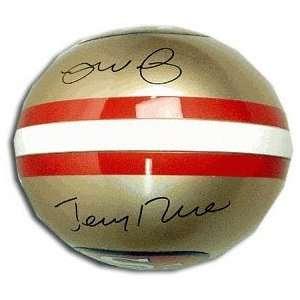 Joe Montana & Jerry Rice San Francisco 49ers Autographed