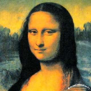 MONA LISA Leonardo Da Vinci New Cap Sleeve Art Shirt XL