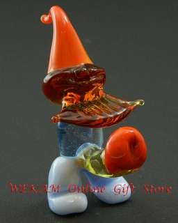 Glass Art Blown Figurine SEXY GNOME Murano Style # 3353