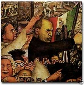 Diego Rivera Mexico Art Tile Ceramic Mussolini Mural