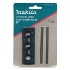 Makita 3 1/4 in Double Edged Tungsten Carbide Planer Blade Set D 17239