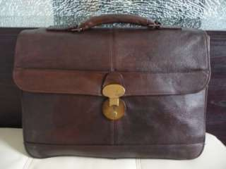 TUMI Vintage (antique) Brown Leather Bedford Briefcase Laptop Bag