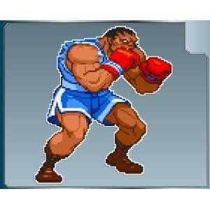 BALROG sprite from Street Fighter vinyl decal sticker #1