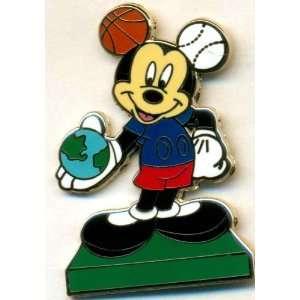 Disney Mickey Basketball Baseball Mouse Ears Espn Pin