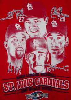 Cardinals World Series Champs Players tshirt Youth XL