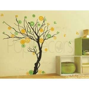 71 H)   Modern Vinyl wall decals stickers for living room art studio