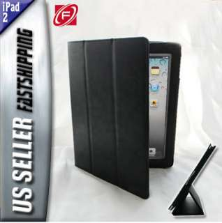 Tri Fold Magnetic Wake/Sleep Smart Cover Leather Case w/ Stand for