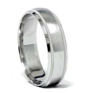 Buy Direct & Save Solid White Gold Mens Wedding Ring 10K
