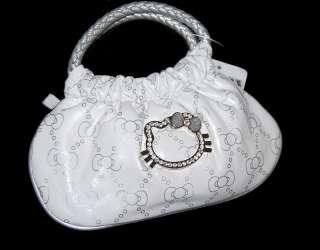 New Hello Kitty Rhinestone Mini Size Handbags Purse