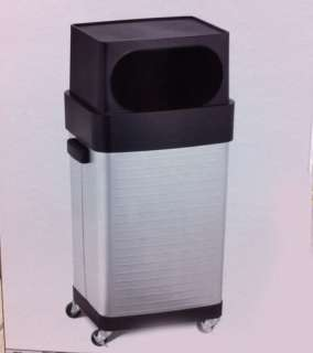 17 GAL ROLLING TRASH BIN GARBAGE CAN COMMERCIAL WASTE BASKET