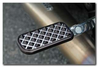 KING KNURLED FOOTPEGS ~ BLACK ANODIZED ~ Harley Davidson TOURING