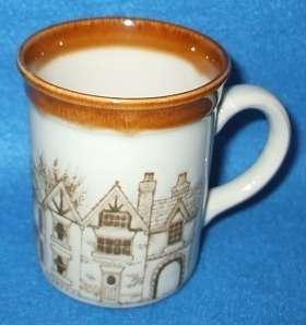 Biltons England Brown Townhouses Coffee Mug Cup